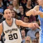 Gran actuación de Ginóbili en la victoria de los Spurs ante Denver