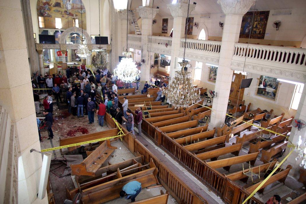 El Terrorismo Azota De Nuevo A Egipto: Explosiones En Dos Iglesias Coptas Matan A Decenas
