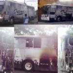 Autobús de Grupo Palomo se incendia