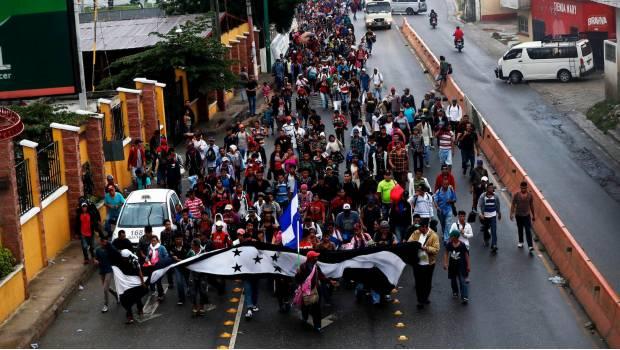 """Pide Trump A México Detener El """"embate"""" De Hondureños Que Se Dirige A Su País"""