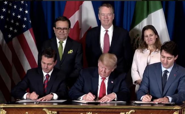 Firman Mandatarios De México, Estados Unidos Y Canadá El T-MEC
