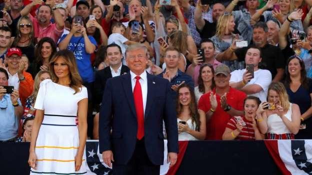 En Fotos: Entre Críticos Y Adeptos, Trump Celebra El Día De La Independencia Con Su Prometido Espectáculo Militar