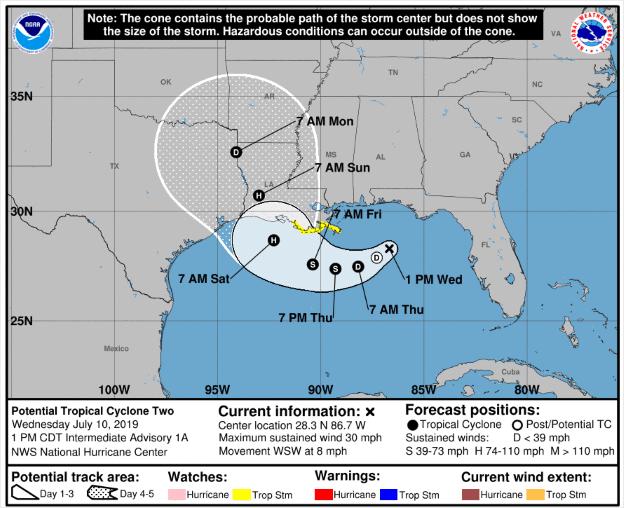 La Tormenta Tropical Barry Se Convertirá En Huracán Barry El Viernes